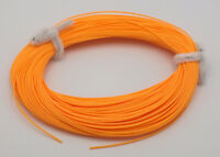 FLY LINE Weight Forward Floating 4WT cut ends, ORANGE, slick 100' LN320