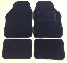 CAR FLOOR MATS FOR NISSAN JUKE LEAF MICRA NOTE X-TRAIL- BLACK WITH BLACK TRIM