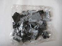 NEW Lego Classic Creative 120+ BLACK GRAY CLEAR BRICK BAG parts box creator set