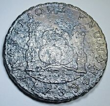 1739 Shipwreck Spanish Silver 8 Reales Eight Real Dollar Pirate Treasure Coin