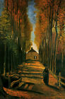 Avenue of Poplars by Vincent Van Gogh, Giclee Canvas Print, in various sizes
