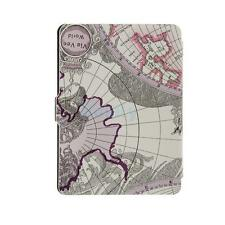 Purple World Map Patten Case Cover Skin For Amazon Kindle Paperwhite 1/2/3