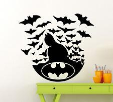 Batman Logo Wall Decal Superheroes Vinyl Sticker Comics Decor Mural (389xx)