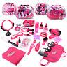 Pretend Play Makeup Hair Dryer Comb Kits Cosmetic Handbag Girls Toy Xmas Gift Cu