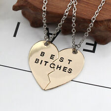 Best bitches necklace for fashion heart broken charms girls necklaces Lesbian