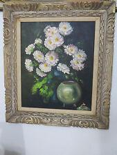 Listed Mid century California EVE WILSON floral still life flowers 28'x32' O/B