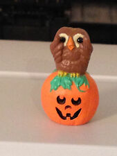 1993 Hallmark Merry Miniature Halloween Owl And Pumpkin #Qfm8302