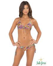 f64aa31b15 Luli Fama Tornasol Molded Push Up Halter Bikini Swimsuit Bathing Suit NWT
