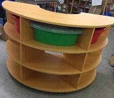 3 Level 1/2 Circular Mobile Wood Unit • Ideal Nursery/Preschool