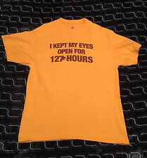 I Kept My Eyes Open for 127 Hours' movie tee–shirt promotion DECEMBER 29, 2010