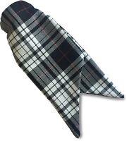 Womens Ladies Menzies Tartan Security Safety Clip On Cravat Tie