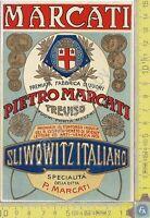 Etichetta - Label - Sliwowitz Italiano - Pietro Marcati - Treviso - Anni 60/70
