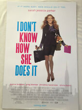 Movie Poster: I DON'T KNOW HOW SHE DOES IT 27x40 (Quad) Sarah Jessica Parker New