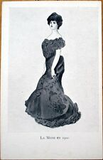 1905 Xavier Sager/Artist-Signed, French Fashion Postcard: 'La Mode en 1900'
