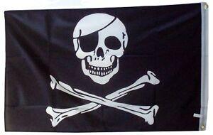 20 X PIRATES FLAG JOLLY ROGER SKULL AND CROSS BONES WHOLESALE BULK 5FX 3FT