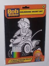 BOB THE BUILDER VELVET COLOURING   SET