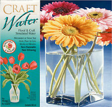 CraftWater Stays Clear Floral Arranging Reuseable Gel Fake Simulated Water 12oz