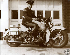 Harley Davidson 1940 Michigan State Police Motorcycle Cop Harley Side View GREAT