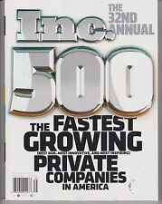 INC. 500 SEPTEMBER 2013, AMERICA'S FASTEST GROWING PRIVATE COMPANIES IN AMERICA.