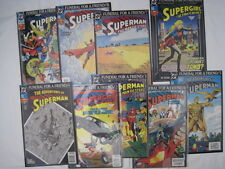 SUPERMAN : FUNERAL FOR A FRIEND. COMPLETE 9 issue DC 1993 STORY ARC. ALL c.FN-NM