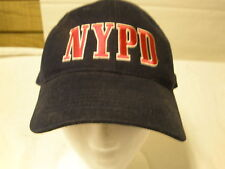 NYPD New York Police Department 9 11 Baseball Hat Cap Adjustible Sportsman Blue