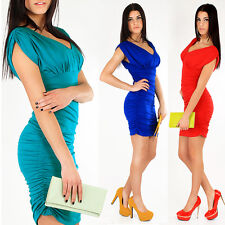 Stunning & Sexy Casual Women's Dress V-Neck Party Bodycon Tunic Sizes 8-20 3911