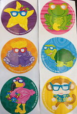 100 Tropical Luau Beach Monkey Flamingo Star Turtle Frog Stickers Party Favors