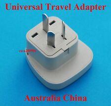 UK US Euro to China Australia Travel Adapter AC Power Plug + Shutter Universal