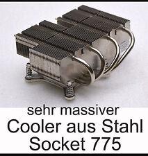 MASSIV PASSIV LAUTLOSER LEISER CPU KÜHLER COOLER PROZESSOR INTEL SOCKET 775 E100