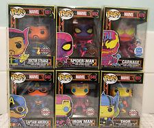 POP! Blacklight funko Carnage Thor Spider-Man Ironman BUNDLE #648 #649 #650 #678