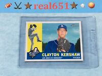 2009 Topps Heritage #343 CLAYTON KERSHAW   Dead Centered   Dodgers 2nd Yr   FHOF