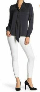 (NWT) Hue Women's White Ankle Zip Simply Stretch Skimmer Leggings Size XS