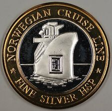 Norwegian Cruise Line HSP Lost Ship Fine Silver Gaming Token