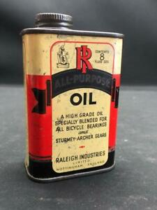 RALEIGH CYCLE LUBRICATING OIL OILER TIN CAN NOTTINGHAM