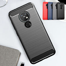 For Nokia 7.2 4.2 2.2 5.3 5.1 3.4 6 Shockproof Carbon Fiber Silicone Case Cover
