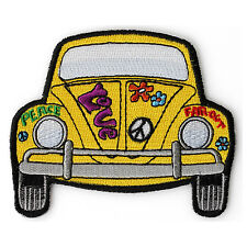 Embroidered Hippie Bug Peace Love Car Sew or Iron on Patch Biker Patch
