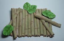 1 x palo de bambú Topper Comestibles Azúcar Pasta Para Decoración De Pasteles Fiesta De Cumpleaños