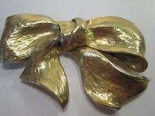 Christopher Ross 1983 Iconic Gold Plated Bow Cinch Belt Buckle *