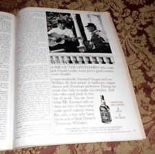 1984 Near Mint Print Ad Poster Jack Daniels Whiskey Some of the gentleman who