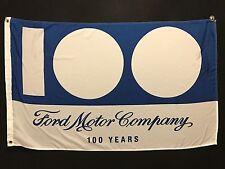 Ford 100 Year Dealer Banner Flag - Mustang GT Focus RS 32 Roadster F150 Truck V8