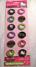 1 Dozen Hello Kitty Pins, Buttons for Your Hat, Jacket, Coat or Anywhere Fun!
