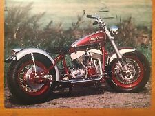 Tin Sign Vintage Indian Motorcycle Speedy Burner