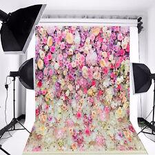 5x10FT Flowers Brick Wall Photography Backdrops Vinyl Baby Photoshoot Background