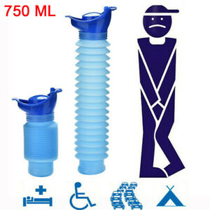 750ML Portable Unisex Adult Urinal Camping Travel Car Urinal Pee Emergency Tools
