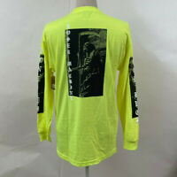 Loser Machine Men's Long Sleeve T-Shirt Last Ride Safety Green Size M NWT Skull