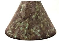 Textured Empire Style Lamp Shade Layered Turquoise & Brown Light Cover New