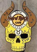 Hard Rock Cafe BRUSSELS 2014 Zodiac Skull Series TAURUS PIN - LE 300! HRC #77797