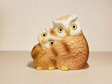 Vintage Ceramic Owl Votive Candle Holder Family