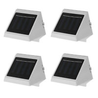 4x Solar Powered Wall Mount LED Light Outdoor Garden Landscape Fence Yard Lamp