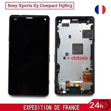 Ecran LCD sur Châssis + Vitre Tactile pour Sony Xperia Z3 Compact D5803 Noir